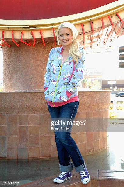 Holly Madison and the Hard Rock Cafe feed the underprivileged of Las Vegas at the Hard Rock Cafe on November 24 2011 in Las Vegas Nevada