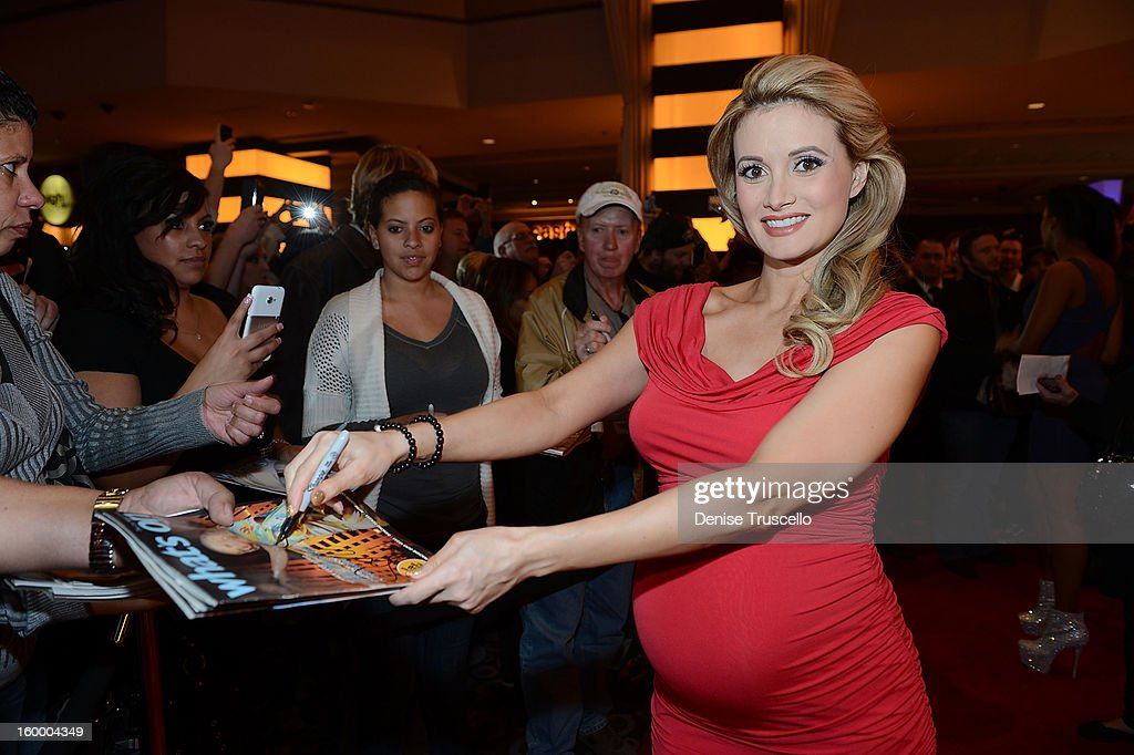 Holly Madison arrives at FilmDistrict's 'Parker' premiere at Planet Hollywood Casino Resort on January 24, 2013 in Las Vegas, Nevada.