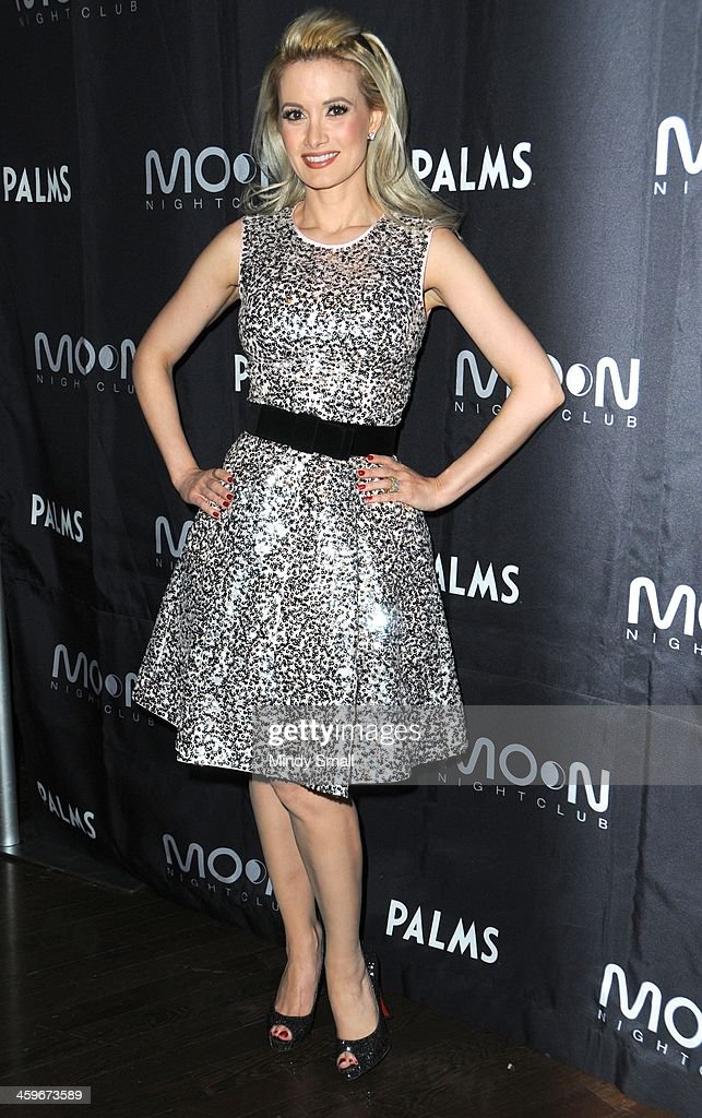 Holly Madison arrives at Moon nightclub at the Palms Casino Resort on December 28, 2013 in Las Vegas, Nevada.
