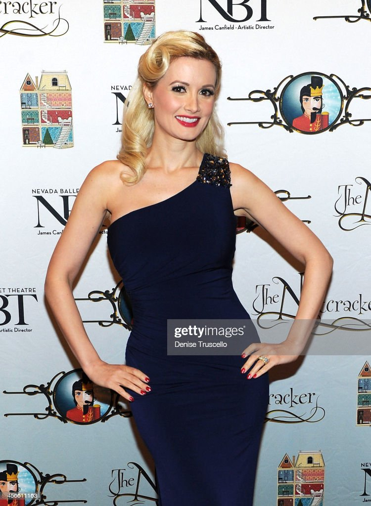 Holly Madison arrives at Nevada Ballet Theater's 'The Nutcracker' at The Smith Center For The Performing Arts 14 2013 in Las Vegas Nevada