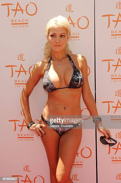 Holly Madison attends TAO Beach at The Venetian Hotel and Casino Resort on July 5 2009 in Las Vegas Nevada