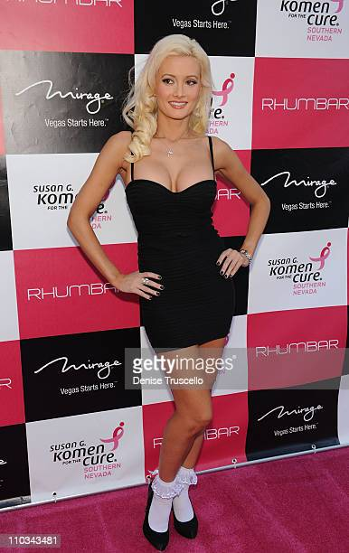 Holly Madison attends the grand opening of Rhumbar and launch of Pink Sugar Mondays to benefit Susan G Komen For The Cure at The Mirage Hotel and...