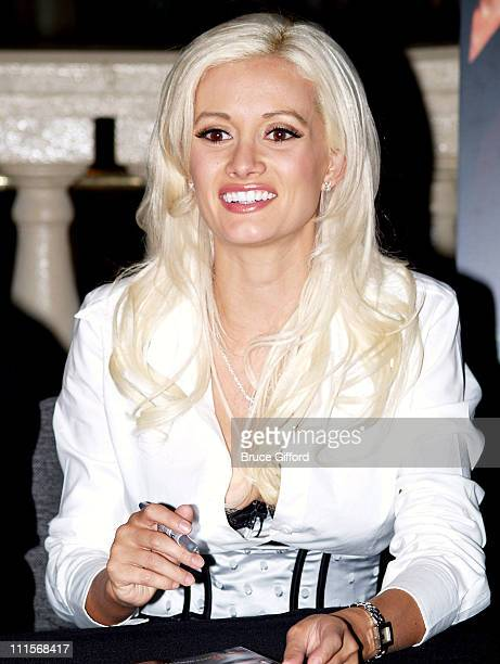Holly Madison during Hugh Hefner Signing Covers of the November Playboy Pictorial at the Playboy Concept Boutique at Forum Shops at Caesars in Las...
