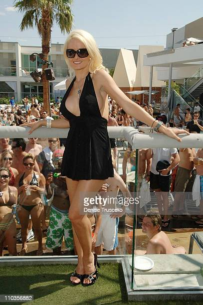 Holly Madison hosts the Playboy Bunny Search at The Palms Pool at The Palms Hotel and Casino on June 27 2008 in Las Vegas Nevada