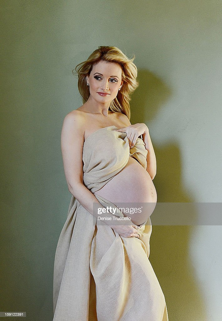 Holly Madison pregnancy portraits, photographed at Casa Luca Marco on January 8, 2013 in Las Vegas, Nevada.