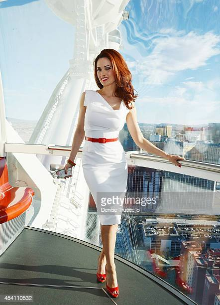 Holly Madison rides the High Roller at the Linq on August 24 2014 in Las Vegas Nevada