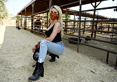 Holly Madison Visits The Las Vegas Farm/Barn Buddies