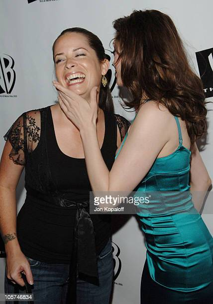 Holly Marie Combs and Rose McGowan during 2005 WB Network's All Star Celebration Arrivals at The Cabana Club in Hollywood California United States