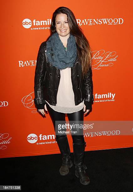Holly Marie Combs arrives at the 'Pretty Little Liars' celebrates Halloween episode held at Hollywood Forever on October 15 2013 in Hollywood...