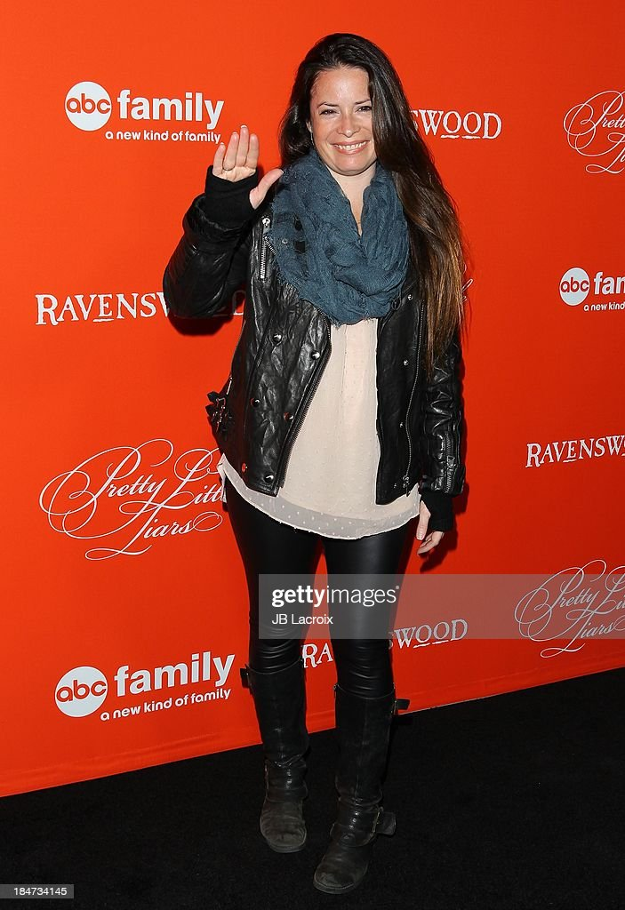 <a gi-track='captionPersonalityLinkClicked' href=/galleries/search?phrase=Holly+Marie+Combs&family=editorial&specificpeople=213928 ng-click='$event.stopPropagation()'>Holly Marie Combs</a> attends the 'Pretty Little Liars' Special Halloween Episode Premiere Party held at Hollywood Forever on October 15, 2013 in Hollywood, California.