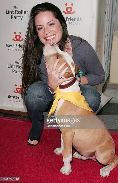 Holly Marie Combs with Fly Guy during Best Friends Animal Society's The Lint Roller Party at Hollywood Roosevelt Hotel in Hollywood California United...