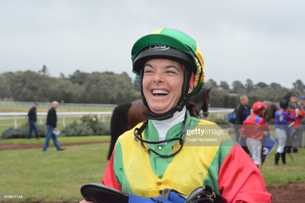 Holly McKechnie after winning Hamilton Flooring Xtra BM58 Handicap at Hamilton Racecourse on April 21, 2017 in Hamilton, Australia.