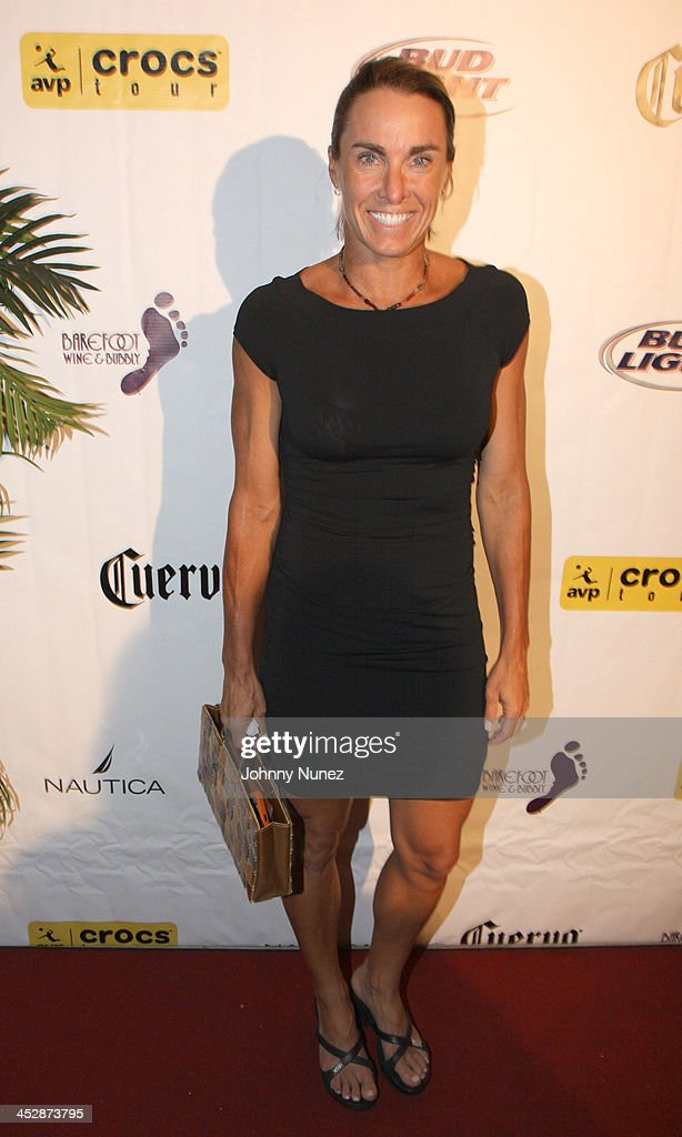 holly mcpeak attends the 25th anniversary celebration of avp pro beach volleyball at nikki beach on