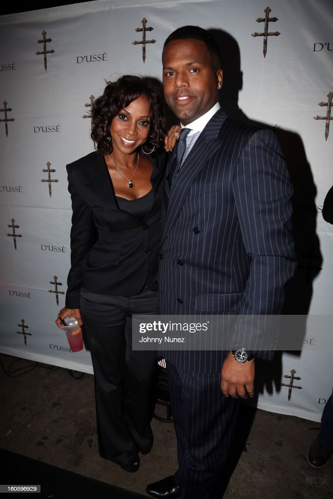 Holly Robinson Peete and AJ Calloway attend the Jay-Z & D'Usse Super Bowl Party at The Republic on February 2, 2013, in New Orleans, Louisiana.
