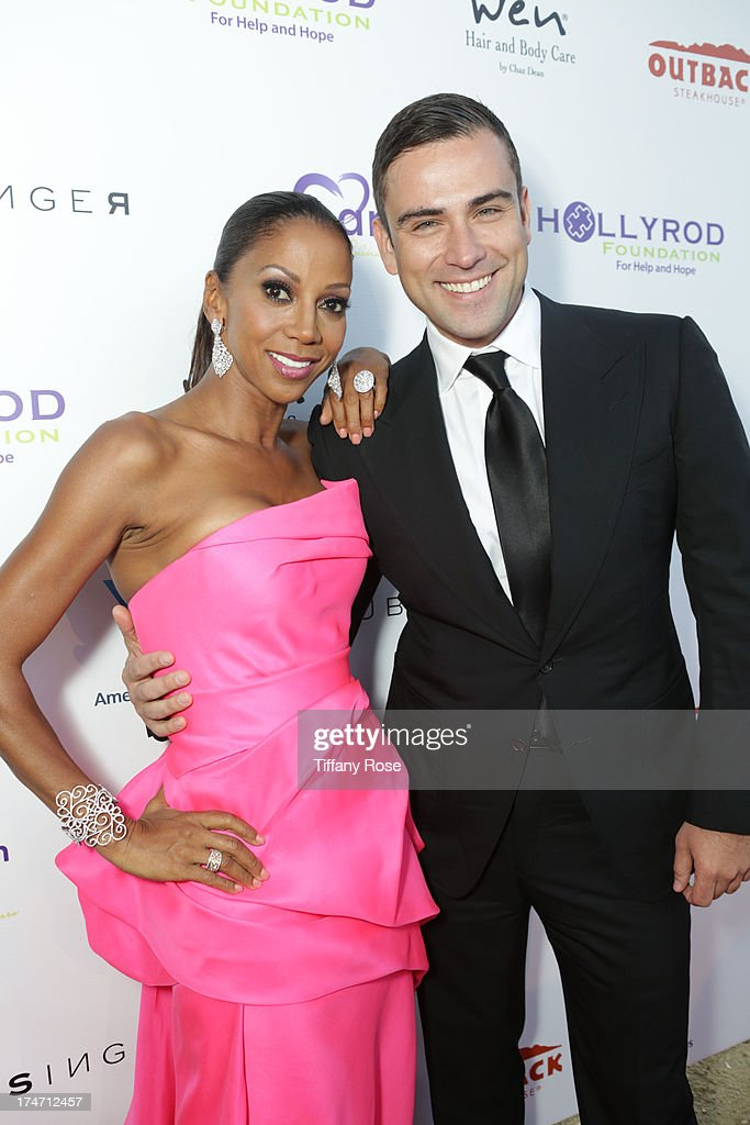 Holly Robinson Peete and fashion designer Rubin Singer attends the 15th Annual DesignCare benefiting The HollyRod Foundation on July 27, 2013 in Malibu, California.
