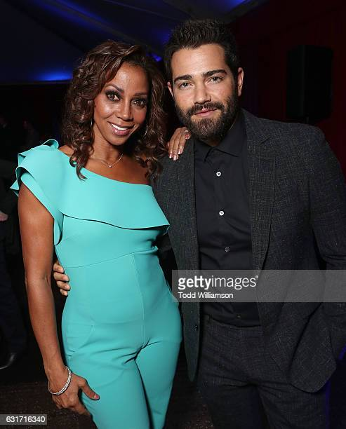 Holly Robinson Peete and Jesse Metcalfe attend the Hallmark Channel And Hallmark Movies And Mysteries Winter 2017 TCA Press Tour at The Tournament...