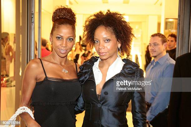 Holly Robinson Peete and June Haynes attend Valentino and Holly Robinson Peete Rodney Peete host cocktail shopping event with wives of the NFL...