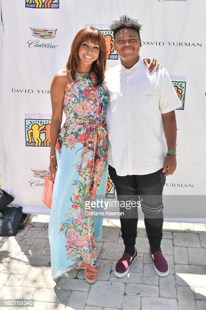 Holly Robinson Peete and Robinson Peete attend Cindy Crawford and Kaia Gerber host Best Buddies Mother's Day Brunch in Malibu CA sponsored by David...