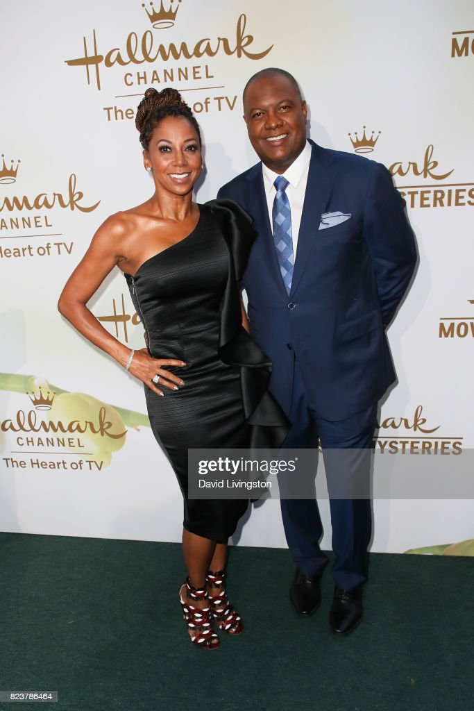Holly Robinson Peete and Rodney Peete attend the Hallmark Channel and Hallmark Movies and Mysteries 2017 Summer TCA Tour on July 27, 2017 in Beverly Hills, California.