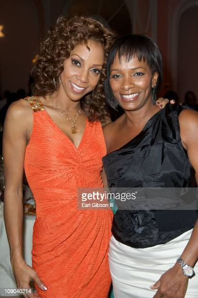 Holly Robinson Peete and Vanessa Bell Calloway attend the 42nd NAACP Image Awards Nominees' Luncheon on February 12 2011 in Beverly Hills California