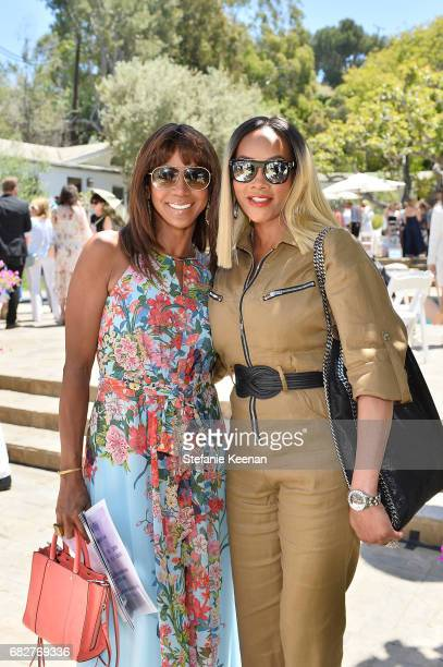 Holly Robinson Peete and Vivica Fox attend Cindy Crawford and Kaia Gerber host Best Buddies Mother's Day Brunch in Malibu CA sponsored by David...