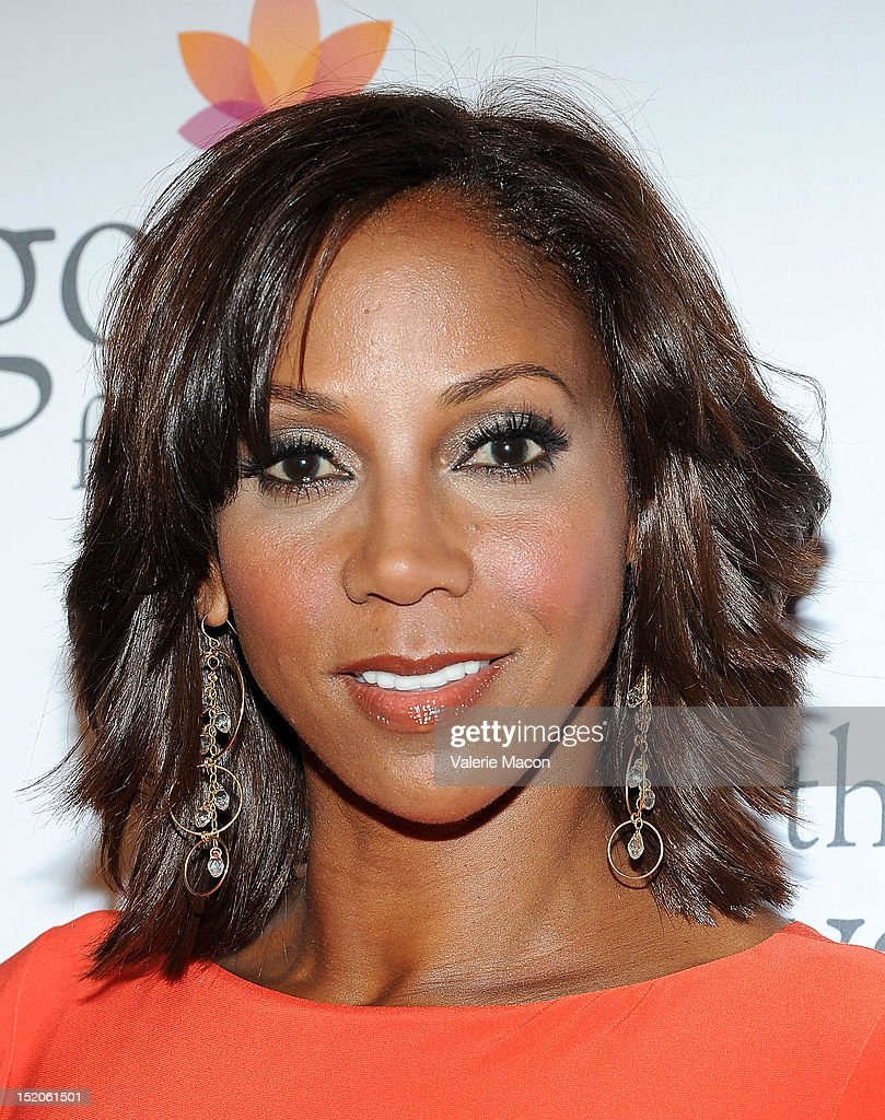 Holly Robinson Peet arrives at The Eva Longoria Foundation's Pre-ALMA Awards Dinner Presented By Target on September 15, 2012 in Los Angeles, California.