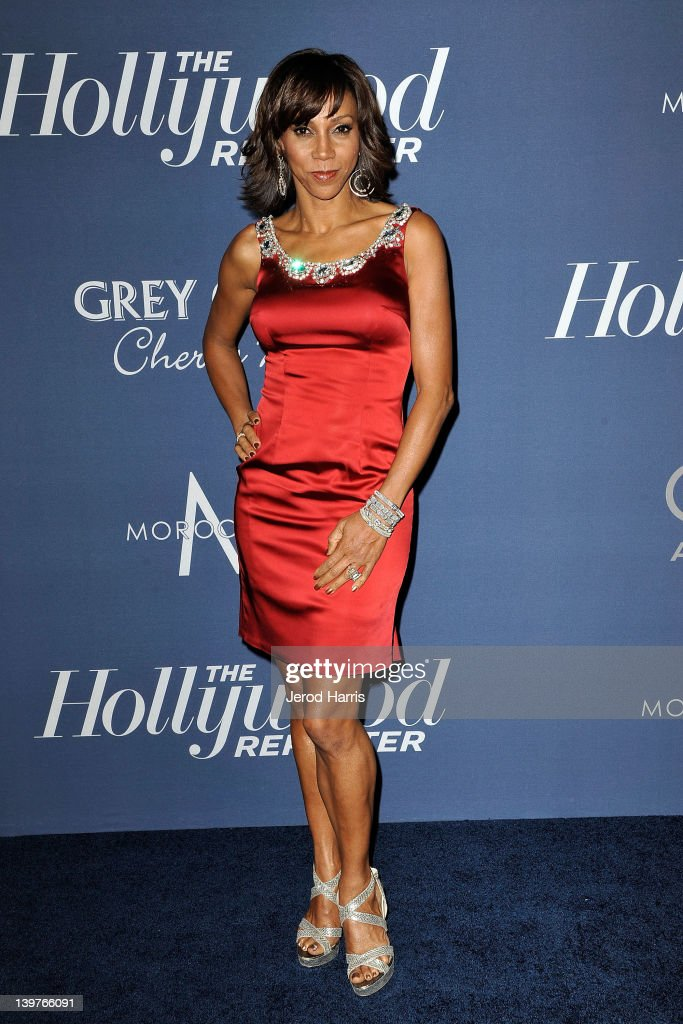 Holly Robinson Peete arrives at The Hollywood Reporter celebrates the 84th annual Academy Awards nominees at the Getty House on February 23 2012 in...