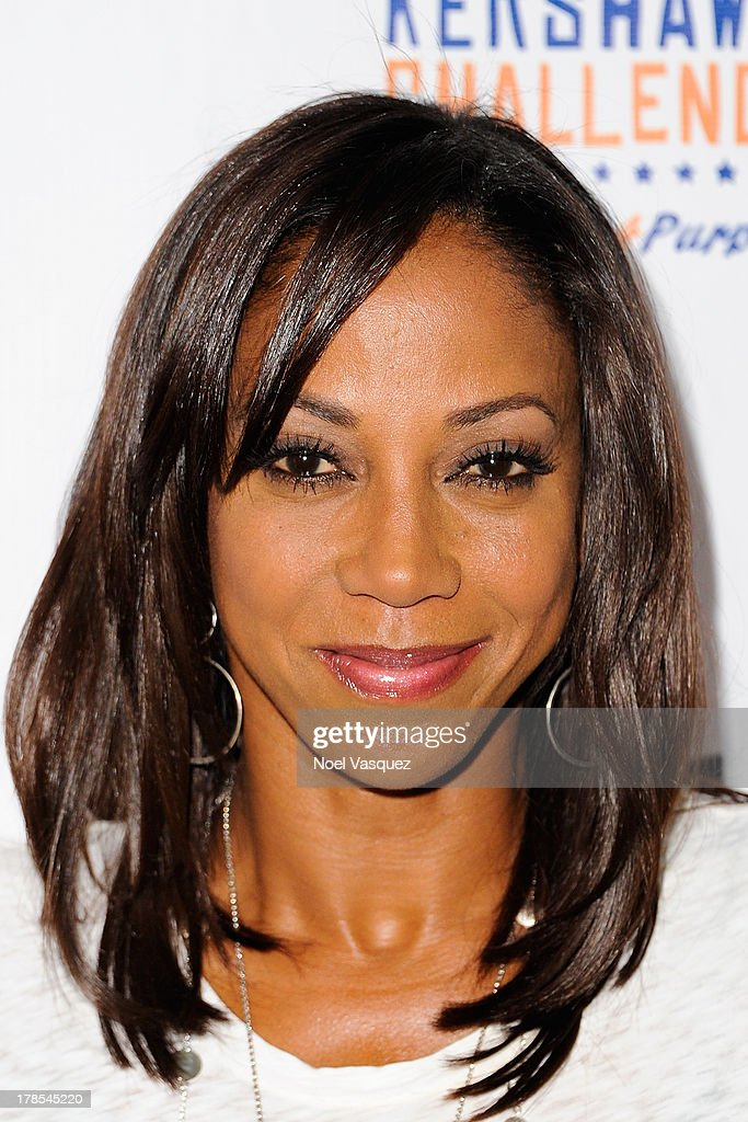 <a gi-track='captionPersonalityLinkClicked' href=/galleries/search?phrase=Holly+Robinson+Peete&family=editorial&specificpeople=213716 ng-click='$event.stopPropagation()'>Holly Robinson Peete</a> attends Clayton Kershaw's inaugural Ping Pong 4 Purpose at Dodger Stadium on August 29, 2013 in Los Angeles, California.