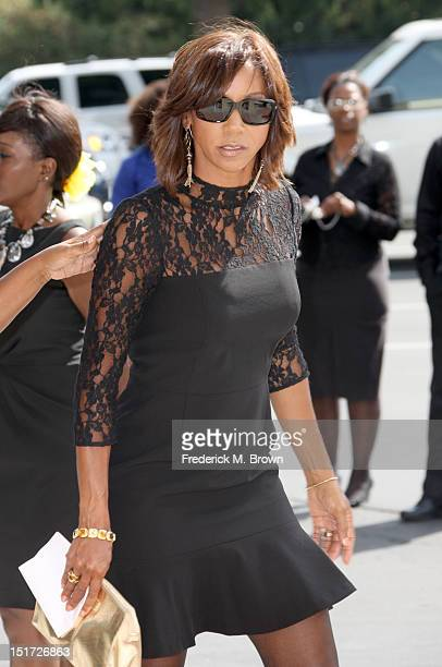 Holly Robinson Peete attends Michael Clarke Duncan's Memorial Service at Forest Lawn Cemetery on September 10 2012 in Los Angeles California
