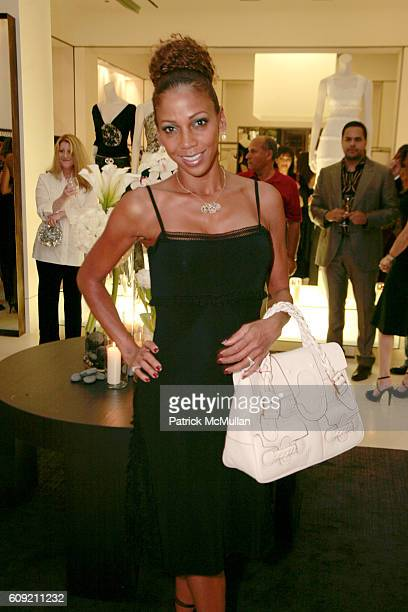 Holly Robinson Peete attends Valentino and Holly Robinson Peete Rodney Peete host cocktail shopping event with wives of the NFL players at Valentino...