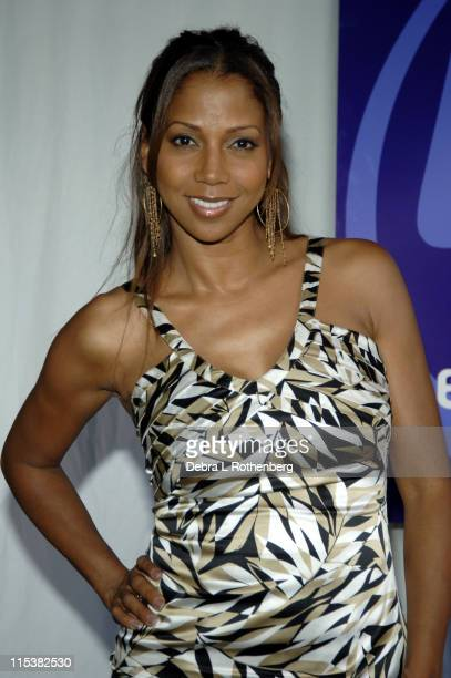 Holly Robinson Peete during 2005/2006 Prime Time UPN UpFront Inside Arrivals at Madison Square Garden in New York City New York United States
