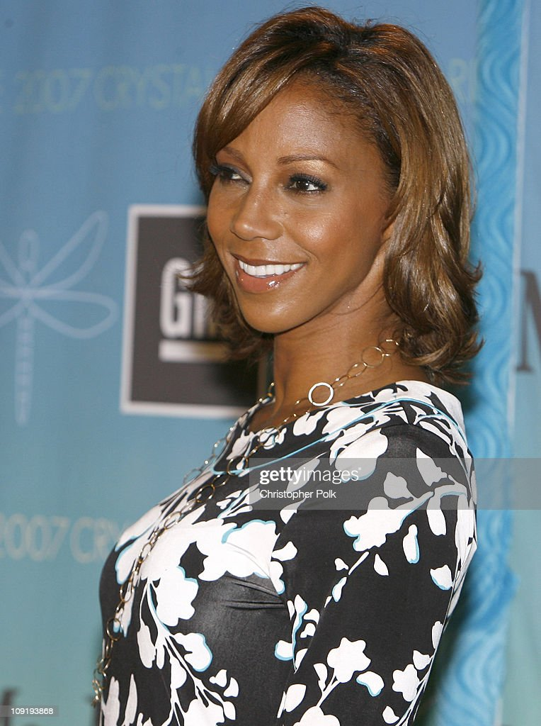 Holly Robinson Peete during 2007 Crystal Lucy Awards Presented by Women in Film Red Carpet at Beverly Hilton Hotel in Beverly Hills California United...