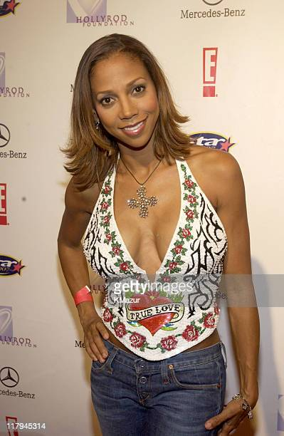 Holly Robinson Peete during Holly Robinson Peete Rodney Peete in Conjunction with E Entertainment TV San Diego's Star 100 Radio Host Fundraiser...