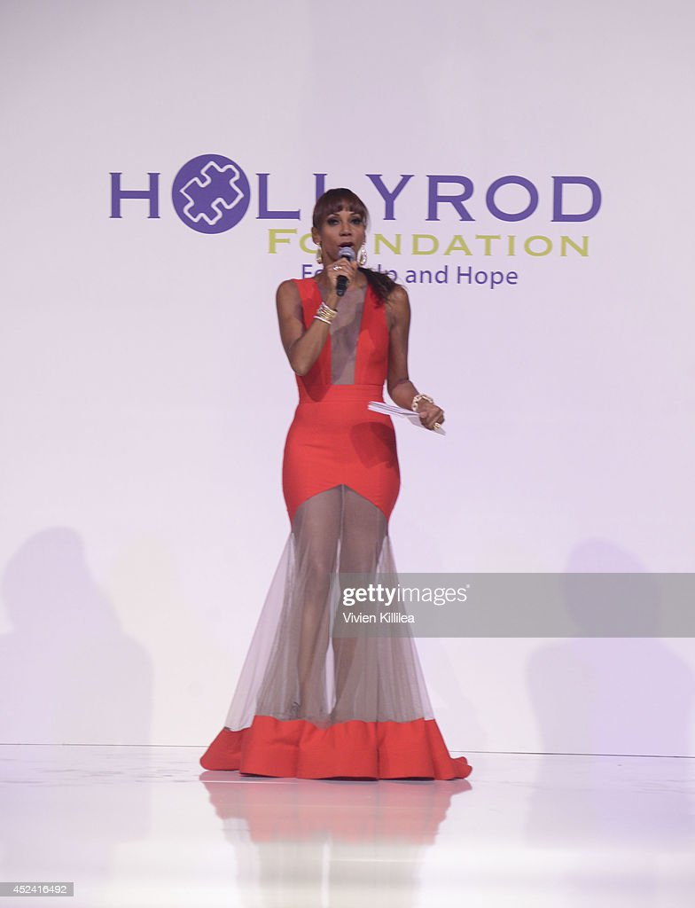 <a gi-track='captionPersonalityLinkClicked' href=/galleries/search?phrase=Holly+Robinson+Peete&family=editorial&specificpeople=213716 ng-click='$event.stopPropagation()'>Holly Robinson Peete</a> hosts the 16th Annual DesignCare To Benefit The HollyRod Foundation at The Lot Studios on July 19, 2014 in Los Angeles, California.
