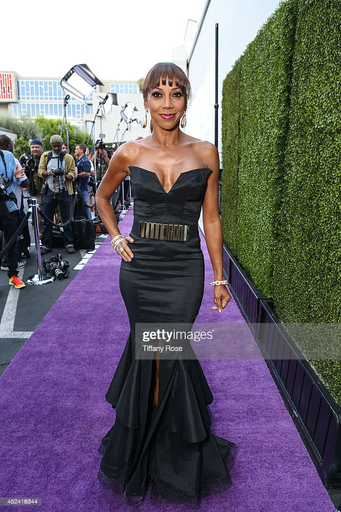 <a gi-track='captionPersonalityLinkClicked' href=/galleries/search?phrase=Holly+Robinson+Peete&family=editorial&specificpeople=213716 ng-click='$event.stopPropagation()'>Holly Robinson Peete</a> poses at the 16th Annual DesignCare to Benefit The HollyRod Foundation at The Lot Studios on July 19, 2014 in Los Angeles, California.