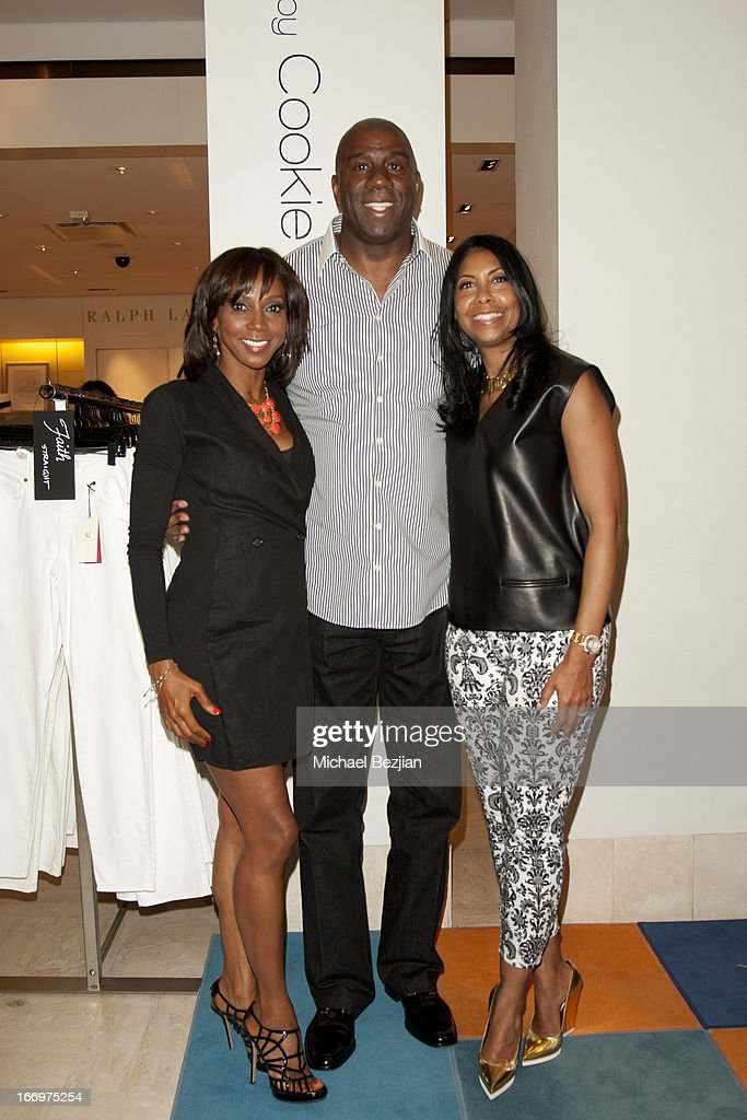Holly Robinson-Peete, Magic Johnson and Cookie Johnson attend Cookie Johnson And Neiman Marcus Host Girls Night Out on April 18, 2013 in Beverly Hills, California.