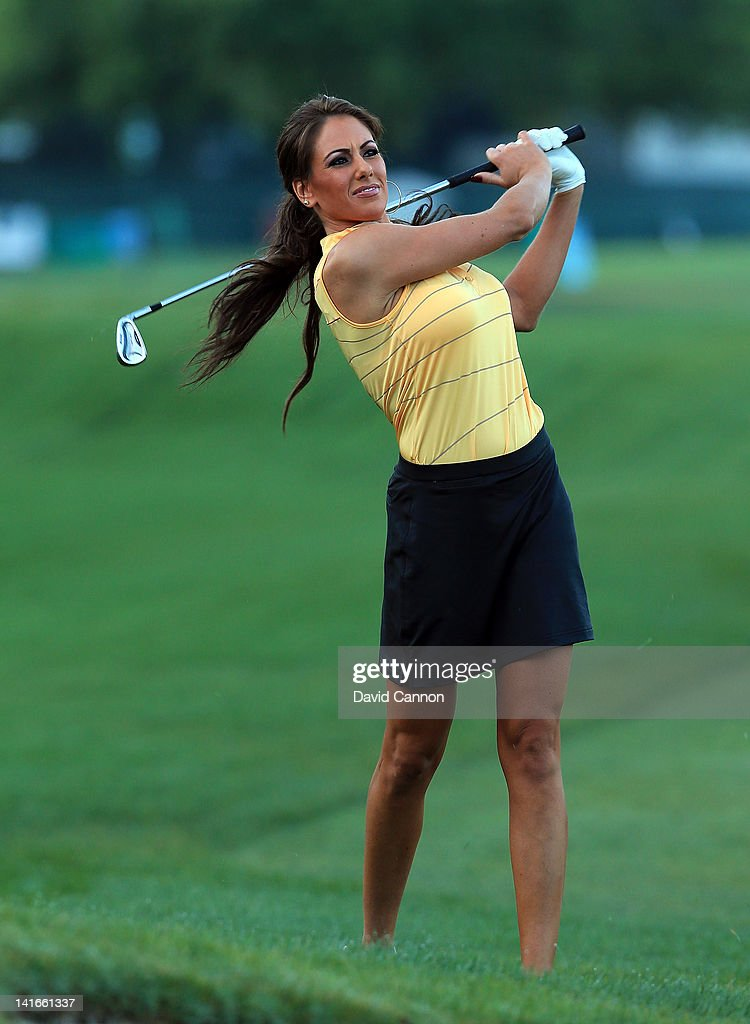 Holly Sonders of the Golf Channel during the pro-am as a preview for the 2012 Arnold Palmer Invitational presented by MasterCard at Bay Hill Club and Lodge on March 21, 2012 in Orlando, Florida.