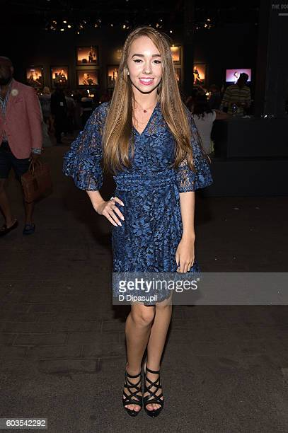 Holly Taylor poses during New York Fashion Week The Shows at Skylight at Moynihan Station on September 12 2016 in New York City