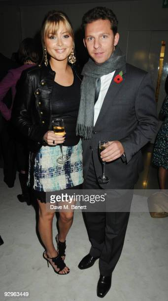 Holly Valance and Nick Candy attend the London Evening Standard Influentials Party at Burberry on November 10 2009 in London England