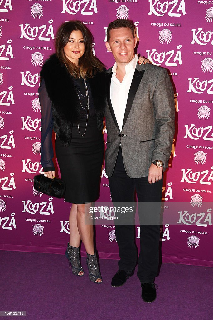 Holly Valance and Nick Candy attend the opening night of Cirque Du Soleil's 'Kooza' at Royal Albert Hall on January 8, 2013 in London, England.