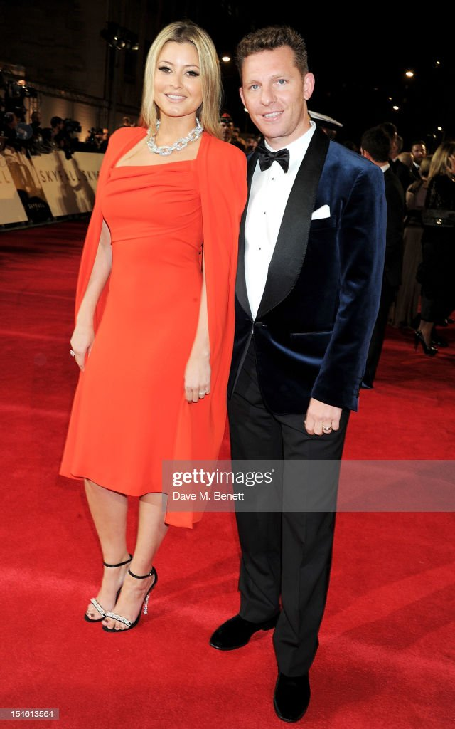 Holly Valance and Nick Candy attend the Royal World Premiere of 'Skyfall' at the Royal Albert Hall on October 23 2012 in London England