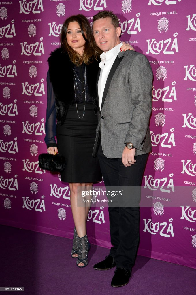 Holly Valance and Nick Candy attends the opening night of Cirque Du Soleil's Kooza at the Royal Albert Hall on January 8, 2013 in London, England.