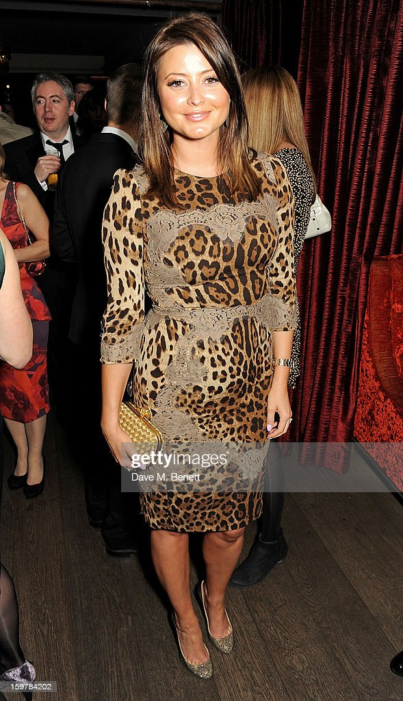 Holly Valance attends an after party following the London Critics Circle Film Awards at Quince Restaurant, The May Fair Hotel on January 20, 2013 in London, England.