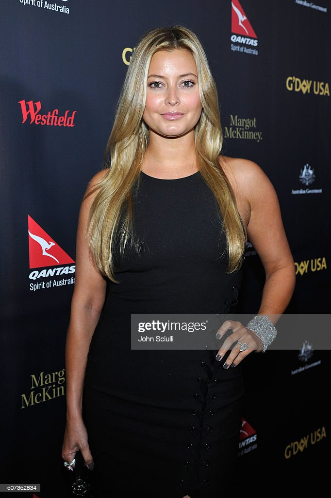 Holly Valance attends the G'Day USA 2016 Black Tie Gala at Vibiana on January 28 2016 in Los Angeles California
