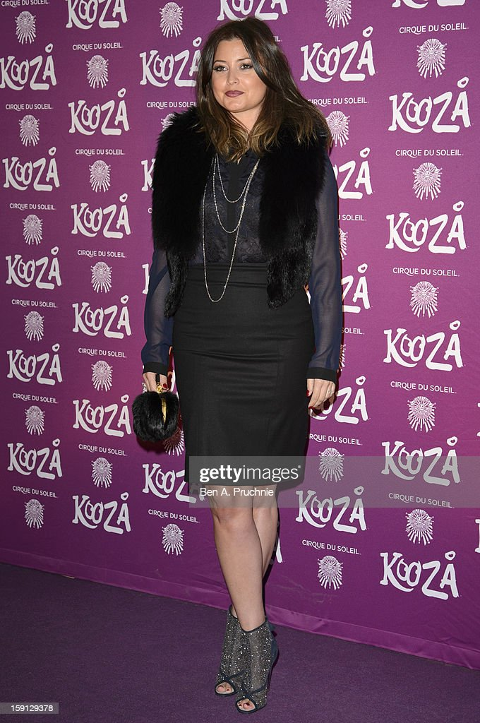 Holly Valance attends the opening night of Cirque Du Soleil's Kooza at the Royal Albert Hall on January 8, 2013 in London, England.