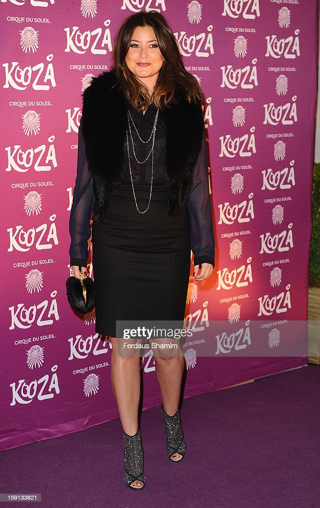 Holly Valance attends the opening night of Cirque Du Soleil's Kooza at Royal Albert Hall on January 8, 2013 in London, England.