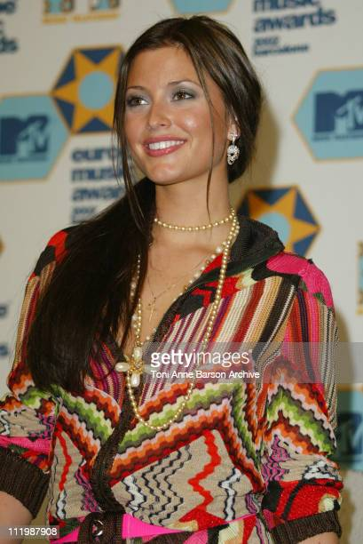 Holly Valance during 2002 MTV European Music Awards Press Room at Palau Sant Jordi in Barcelona Spain