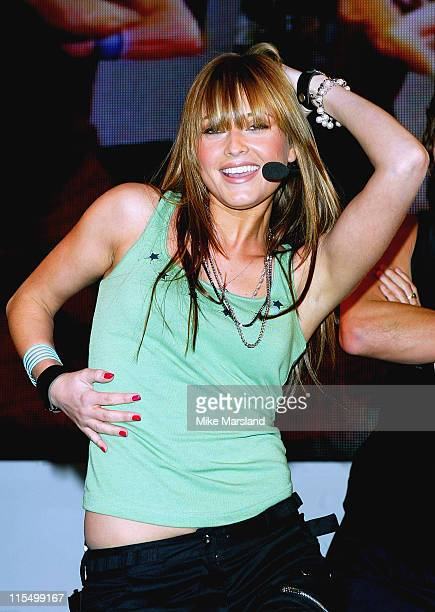 Holly Valance during Holly Valance Performance and Record Signing at HMV Oxford St in London Great Britain