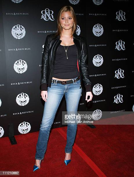 Holly Valance during Rock Republic Spring 2007 Preview Party Red Carpet at Area in West Hollywood California United States