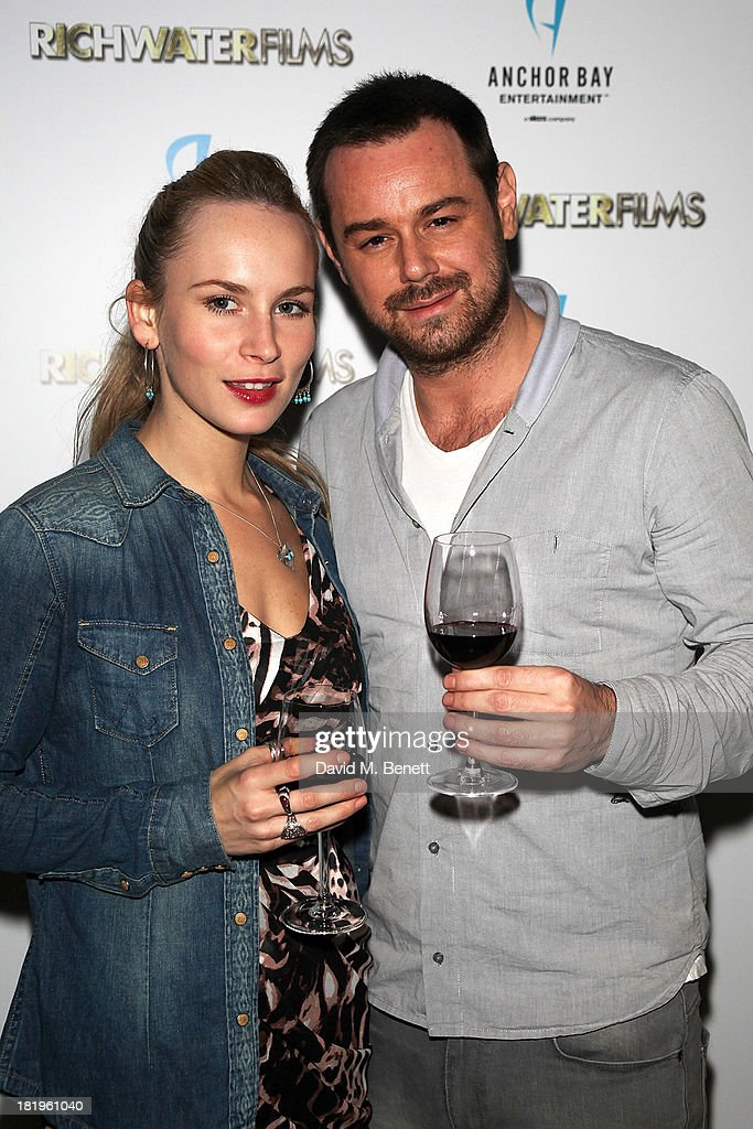 Holly Watson and <a gi-track='captionPersonalityLinkClicked' href=/galleries/search?phrase=Danny+Dyer+-+Actor&family=editorial&specificpeople=15358895 ng-click='$event.stopPropagation()'>Danny Dyer</a> attend a drinks reception celebrating the new co-production agreement between Anchor Bay Films and Richwater Films at The Groucho Club on September 26, 2013 in London, England.